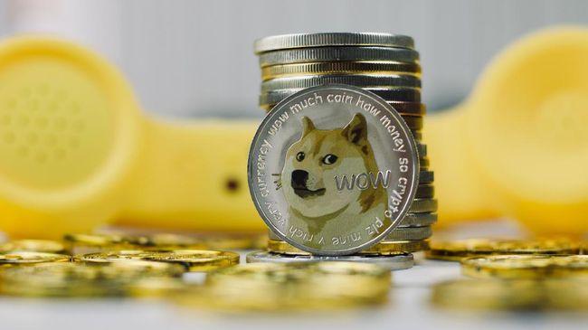Peredaran Dogecoin mencapai US$50 miliar, mengungguli peredaran mata uang kripto paling populer, yaitu bitcoin.