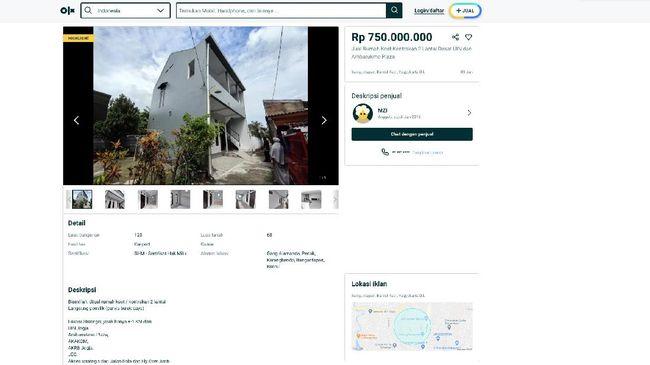 Penjualan kos-kosan melalui e-commerce kini banyak dilakukan di Yogyakarta. Penjualan salah satunya terjadi karena himpitan ekonomi akibat corona.