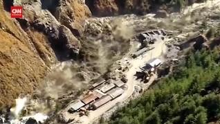 VIDEO: Detik-detik Banjir Bandang di Himalaya