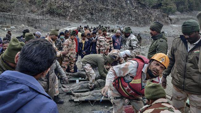 Jumlah korban meninggal akibat gletser longsor di Uttarakhand, India, bertambah menjadi 50 orang.