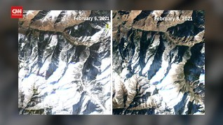 VIDEO: Kondisi Gletser Himalaya Sebelum dan Sesudah Longsor