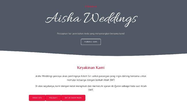 Menurut Ketua DPP Partai NasDem Amelia Anggraini meminta Aisha Weddings melanggar UU Perkawinan.