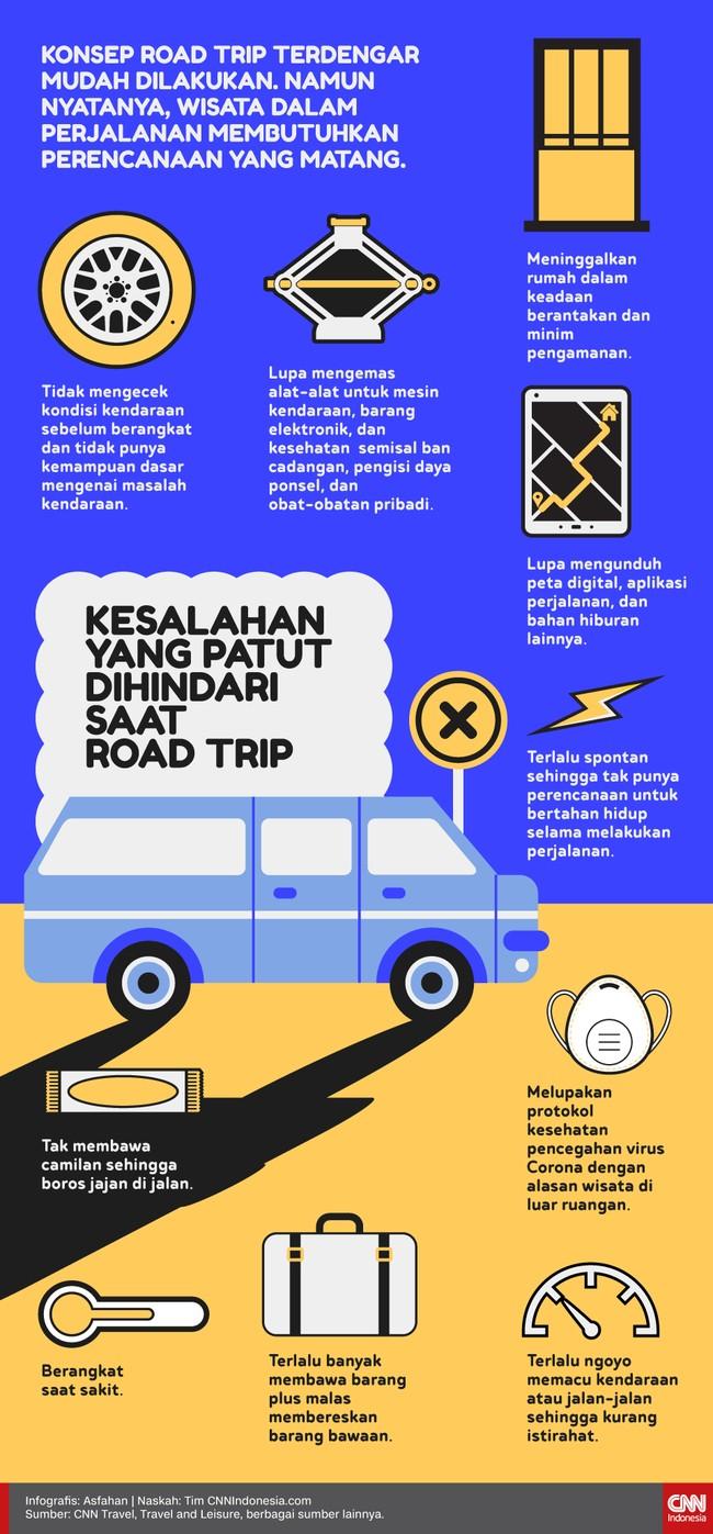 Konsep road trip terdengar mudah dilakukan. Namun nyatanya, wisata dalam perjalanan membutuhkan perencanaan yang matang.