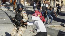 FOTO: Kerusuhan di Haiti Tuntut Presiden Moise Mundur