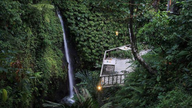 Hotel di tepi air terjun Ubud, Bali, ini berada di posisi ke-dua dalam daftar Best Romantic Hotel in the World TripAdvisor 2020.
