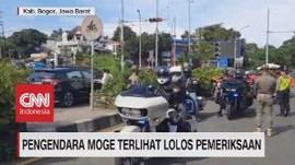 VIDEO: Pengendara Moge Terlihat Lolos Pemeriksaan Gage
