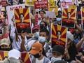 FOTO: Gelombang Protes Rakyat Myanmar Lawan Kudeta Militer