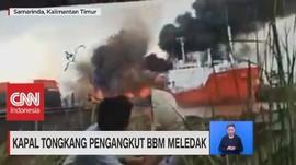 VIDEO: Kapal Tongkang Pengangkut BBM Meledak