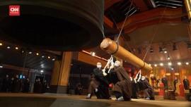 VIDEO: 108 Kali Lonceng Kuil Taiwan Berdentang saat Imlek
