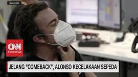 VIDEO: Jelang 'Comeback', Alonso Kecelakaan Sepeda