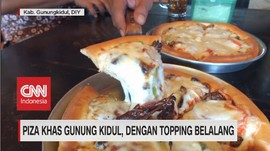 VIDEO: Piza Khas Gunung Kidul, Dengan Topping Belalang