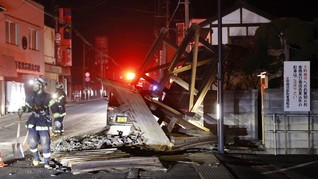 FOTO: Fukushima Diguncang Gempa Bumi
