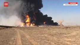 VIDEO: Kapal Tanker Meledak di Perbatasan Afghanistan-Iran