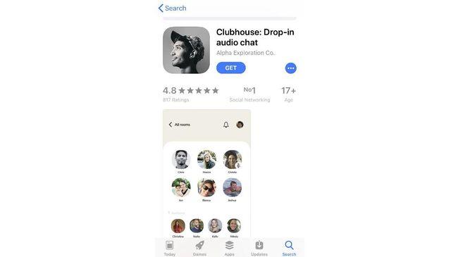 Aplikasi Clubhouse hanya bisa digunakan pada iPhone dengan minimal iOS 13.