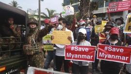 2 Orang Tewas Saat Demo Tolak Kudeta Myanmar