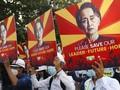 Aktor Myanmar Ditangkap Polisi usai 2 Pedemo Tewas