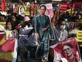 Pedemo Myanmar Jadikan Tato Wajah Suu Kyi Simbol Lawan Kudeta