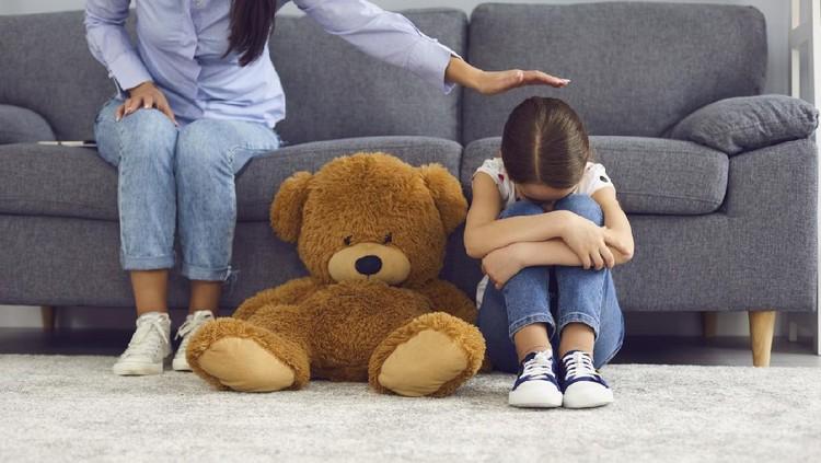 Ilustrasi anak sedih atau berduka