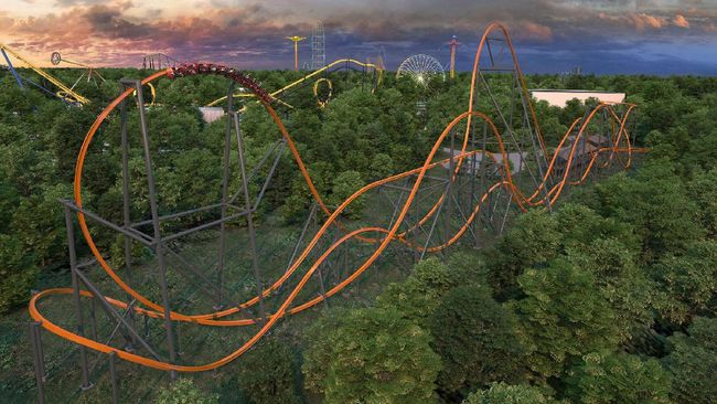 Wahana roller coaster tunggal tertinggi, terpanjang, dan tercepat di dunia akan segera dibuka di Amerika Serikat pada tahun ini.
