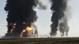 FOTO: Ledakan Besar di Perbatasan Afghanistan-Iran