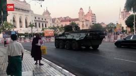 VIDEO: Junta Militer Perketat Keamanan Di Yangon