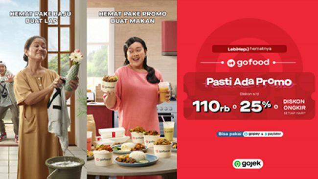 Promo GoFood ini menawarkan diskon makanan hingga 25 persen, diskon keranjang belanja hingga Rp60 ribu, diskon ongkir, serta diskon di hari-hari spesial.
