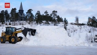 VIDEO: Oslo Pindahkan Bukit Salju ke Tengah Kota Demi Warga