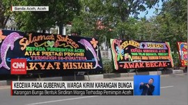VIDEO: Kecewa pada Gubernur Aceh, Warga Kirim Karangan Bunga