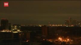 VIDEO: Diterjang Badai Harvey, Kota Houston Gelap Gulita