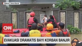 VIDEO: Evakuasi Dramatis Bayi Korban Banjir