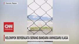 VIDEO: Kelompok Bersenjata Serang Bandara Aminggaru Ilaga