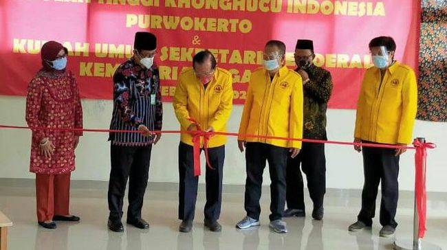 Peresmian Sekolah Tinggi Konghucu Indonesia (STIKIN) di Purwokerto dihadiri Sekjen Kementerian Agama Nizar Ali.