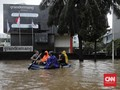 FOTO: Banjir di Kemang Jaksel Saat Hari Sabtu