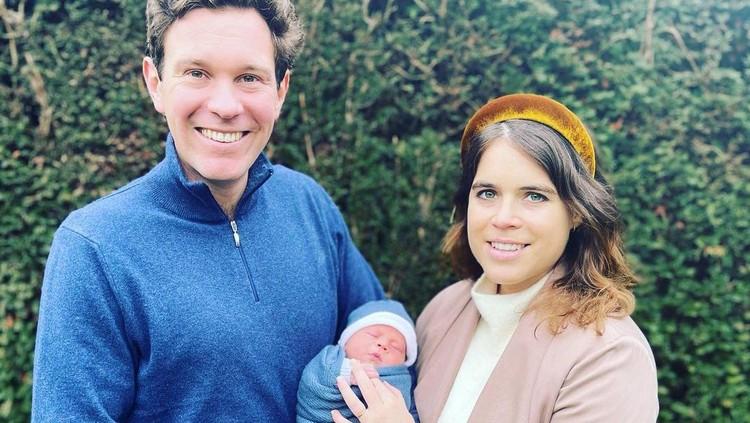 Putri Eugenie bersama suami dan anaknya