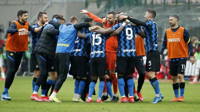 Inter Milan saat ini hanya membutuhkan tiga kemenangan beruntun untuk mengunci gelar juara Liga Italia musim 2020/2021.