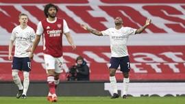 Hasil Liga Inggris: Man City Menang atas Arsenal