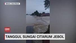 VIDEO: Tanggul Sungai Citarum Jebol
