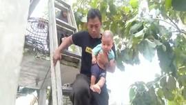 VIDEO: Aksi Heroik Tim SAR Selamatkan Bayi dari Banjir