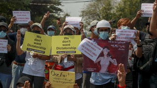Lawatan Menlu Myanmar, Kedutaan Thailand di Yangon Didemo