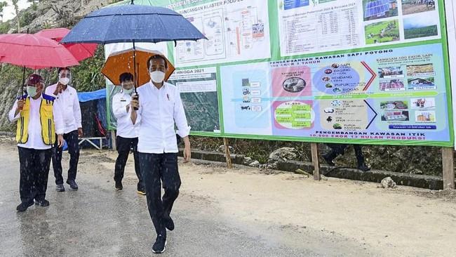 Tak Ada Warga Positif Covid dalam Kerumunan Jokowi di NTT