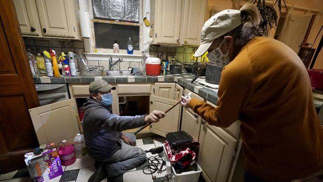 FOTO : Texas Krisis Air Akibat Cuaca Ekstrem