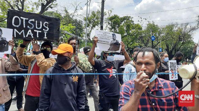Polisi meminta demonstran otsus Papua untuk mengikuti rapid test yang disediakan