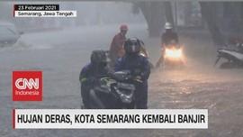 VIDEO: Kota Semarang Kembali Banjir, Ganjar: Saya Yang Salah