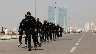 FOTO: Atasi Kriminal, Pakistan Bentuk Unit Polisi Sepatu Roda