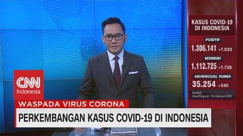 VIDEO: Bertambah 7.533 Kasus, Total Positif Corona 1.306.141