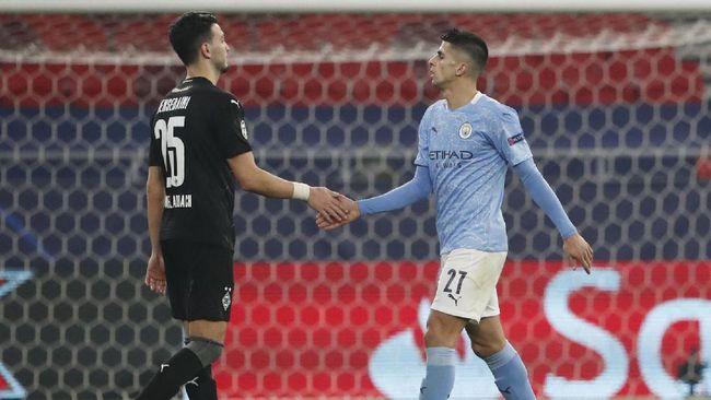 Bek sayap Joao Cancelo tampil memukau kala Man City menang 2-0 atas Borussia Monchengaldbach di leg pertama babak 16 besar Liga Champions.