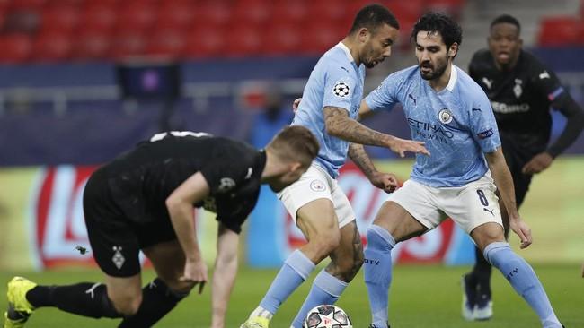 Manchester City menunjukkan kualitas calon juara Liga Champions musim ini setelah menang 2-0 atas Borussia Monchengladbach.