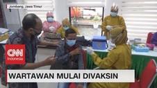 VIDEO: Wartawan Mulai Divaksin