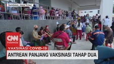 VIDEO: Antrean Panjang Vaksinasi Tahap Dua