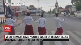 VIDEO: Viral Remaja Bikin Konten Joget di Tengah Jalan